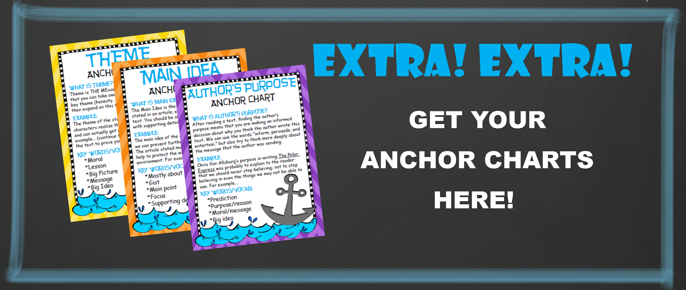 EXTRA, EXTRA…GET YOUR ANCHOR CHARTS HERE!