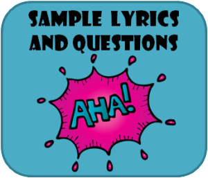 sample lyrics and questions