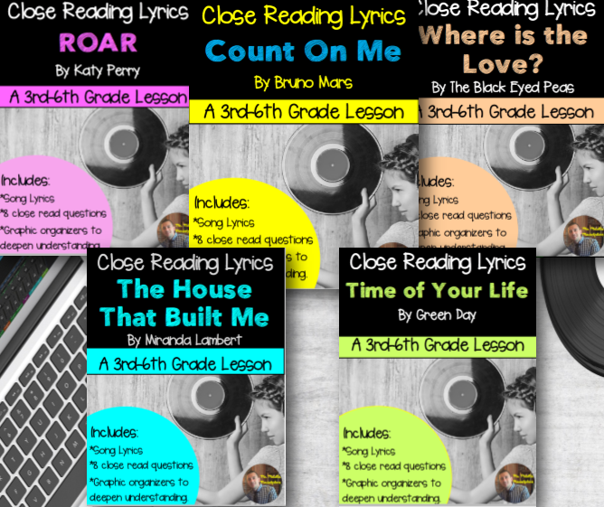 Poetry They Will LOVE! Close Reading with Lyrics
