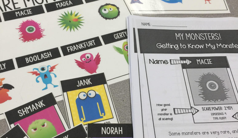 My Monster! Math Trading Cards