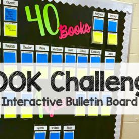 Back to School 40 Book Challenge Bulletin Board