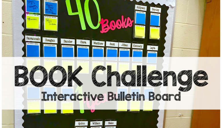 Back to School 40 Book Challenge Bulletin Board