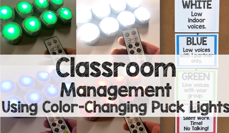 Classroom Management, Color-Changing, Remote-Control Puck Lights
