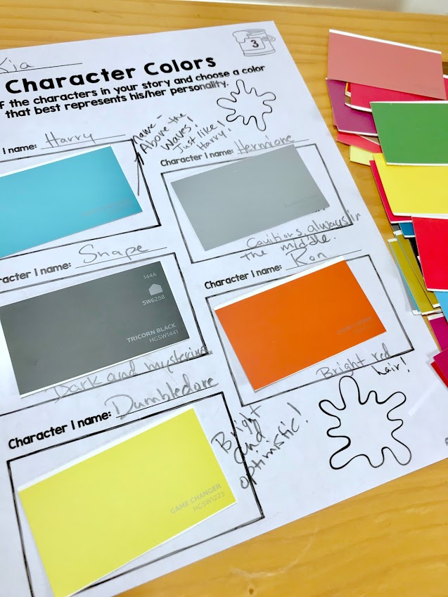 Using Paint Swatches to Help Students Deepen Understanding