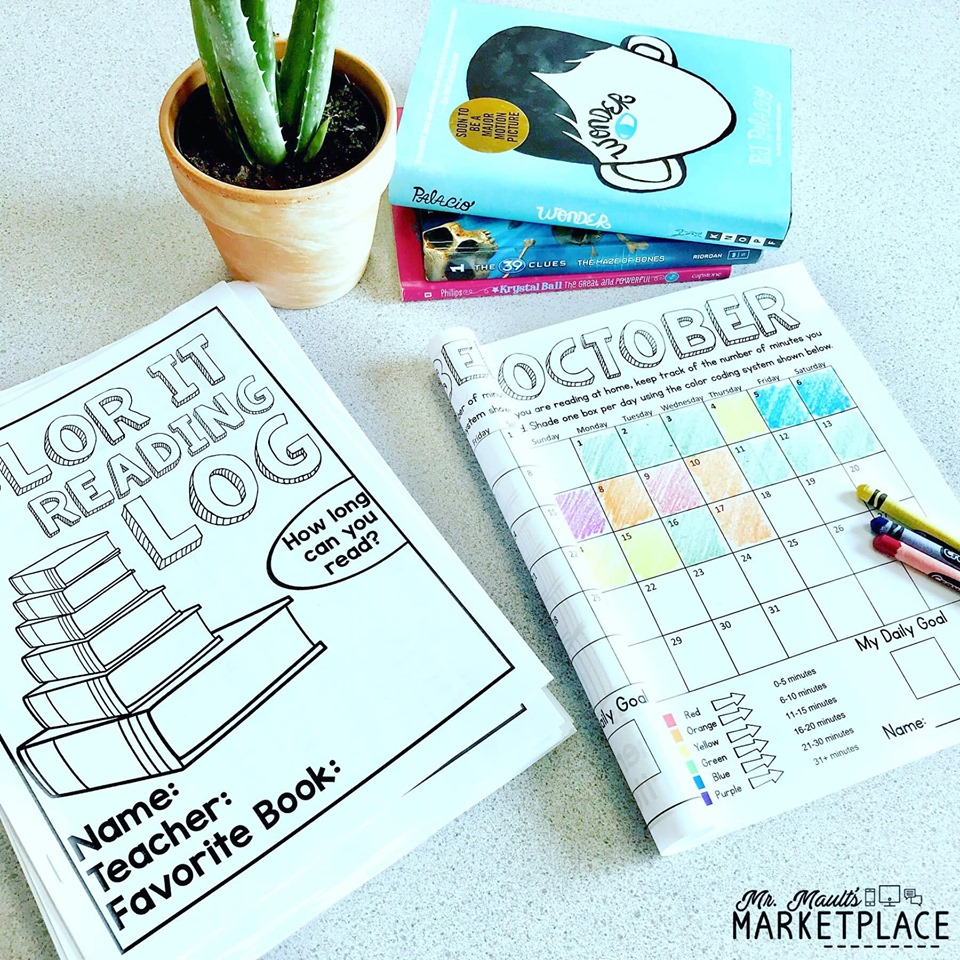 Color it reading log booklet