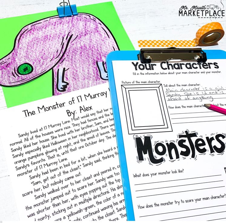 Halloween writing for third grade