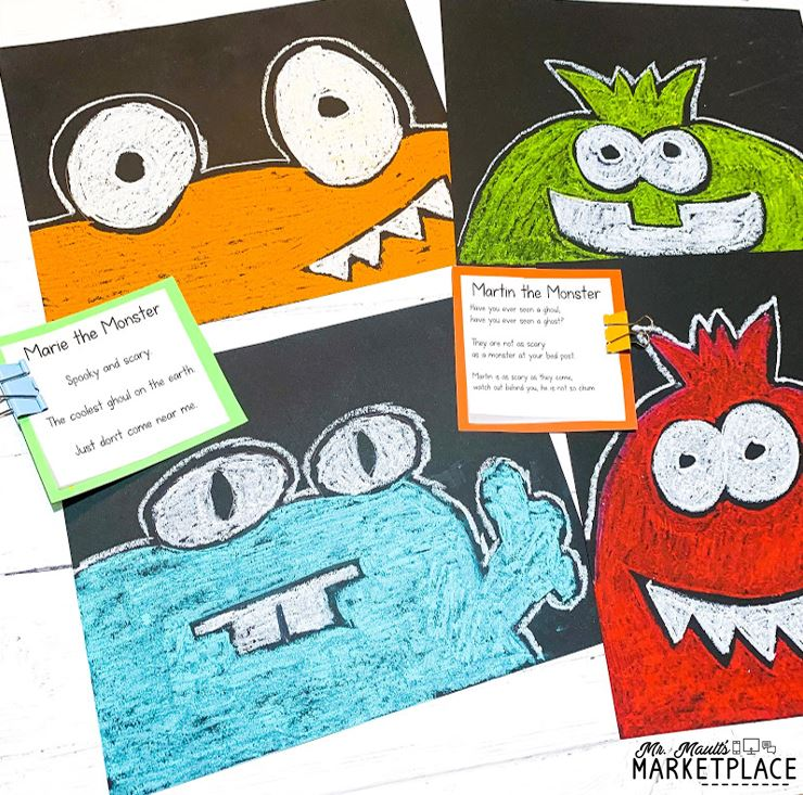 Halloween Art for third graders