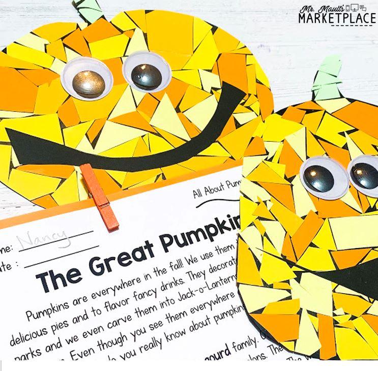Pumpkin mosaic art