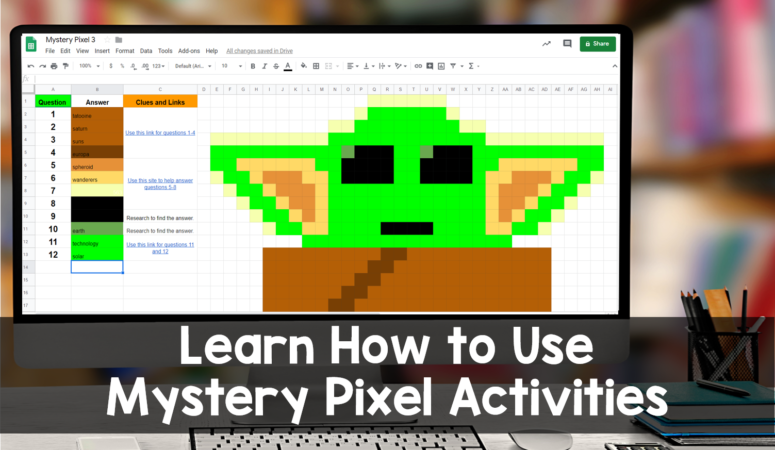Mystery Pixel™ Activities for Google Sheets™ and Google Classroom™