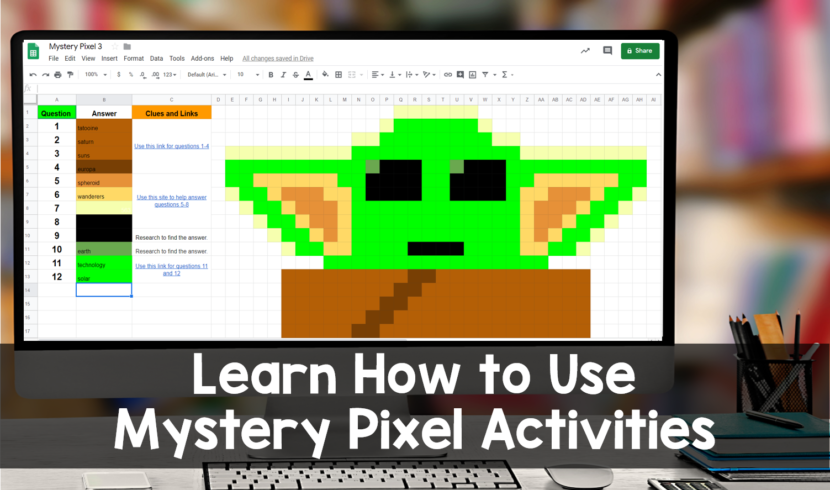 Mystery Pixel Google Sheets Activity