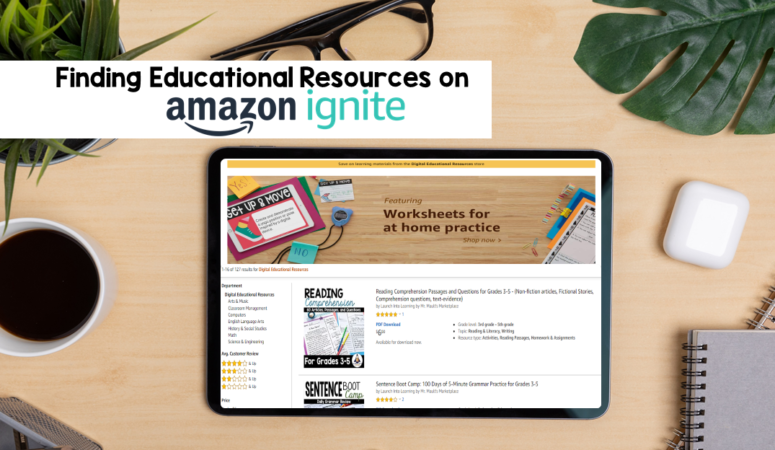 Find Educational Resources on Amazon Ignite!